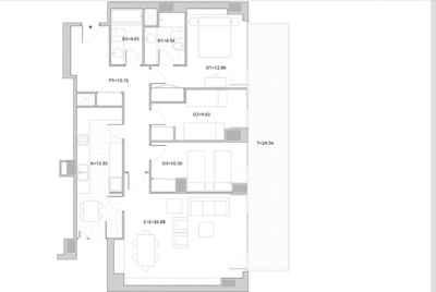 Квартира с большой террасой в Диагональ Мар